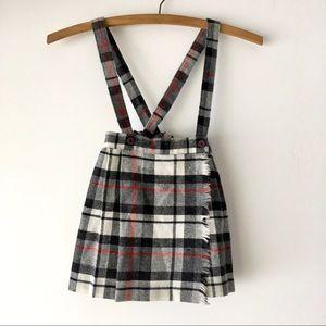 Other - Vintage Flannel Skirt / Suspenders